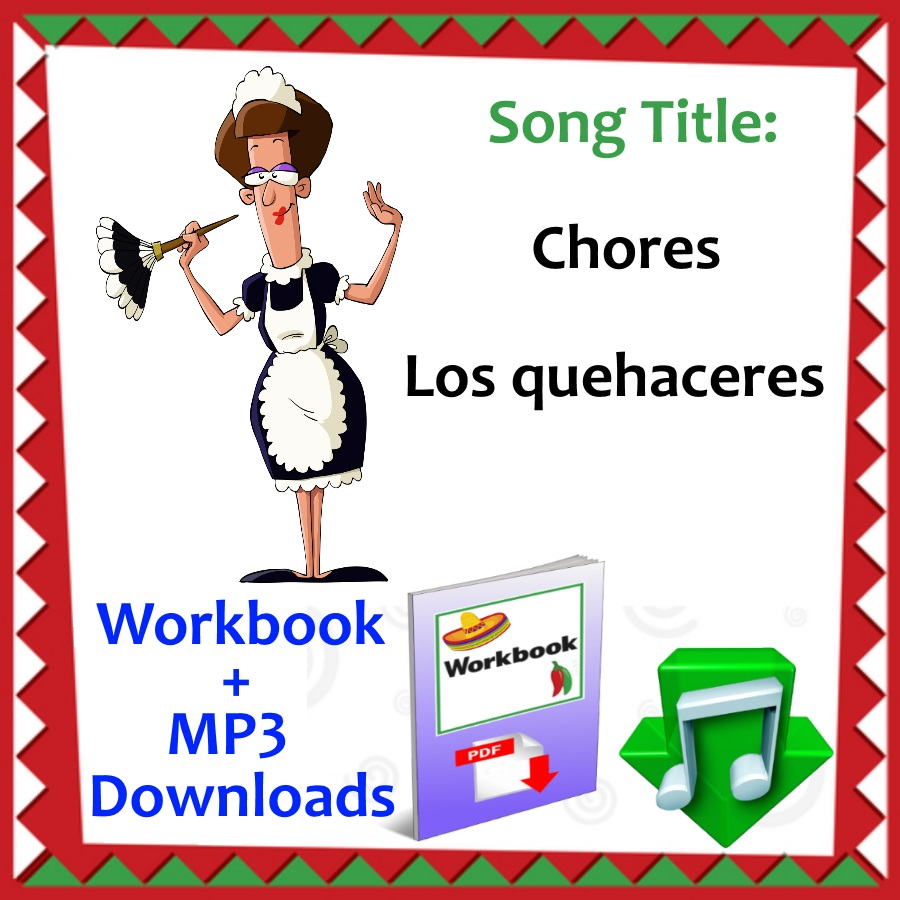 Workbooks learn spanish workbook pdf : Chores- Los quehaceres | SingingSombrero.com